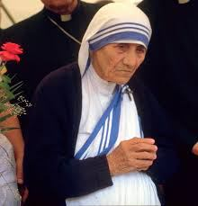 Mother Teresa's Blue and White Striped Sari is now a Registered Trade Mark - Dawn Ellmore